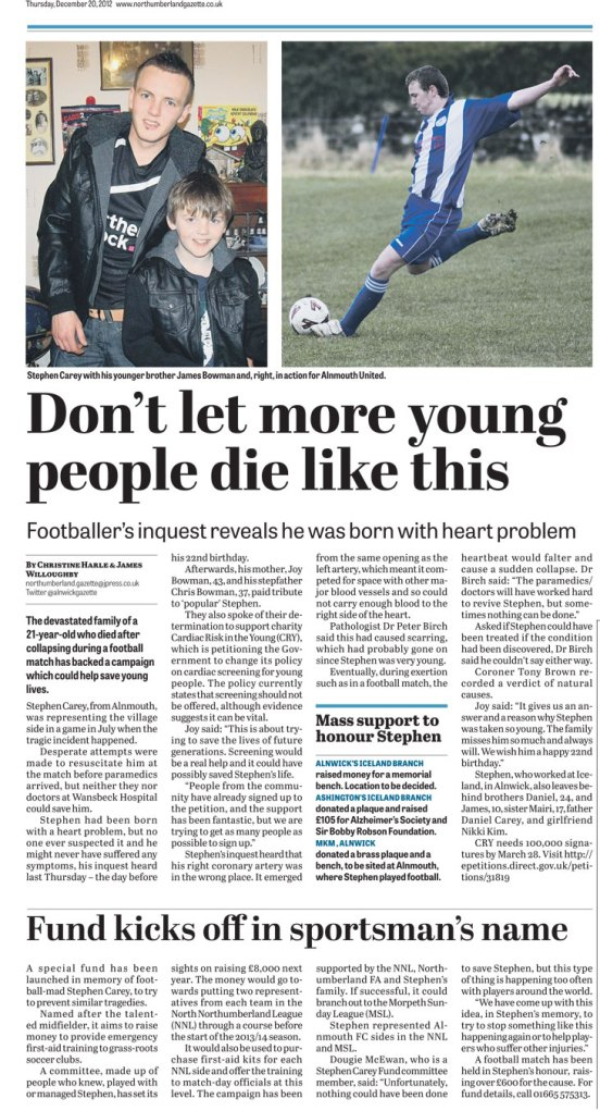 Fund-kicks-off-in-sportsmans-name---Northumberland-Gazette-20-12-2012