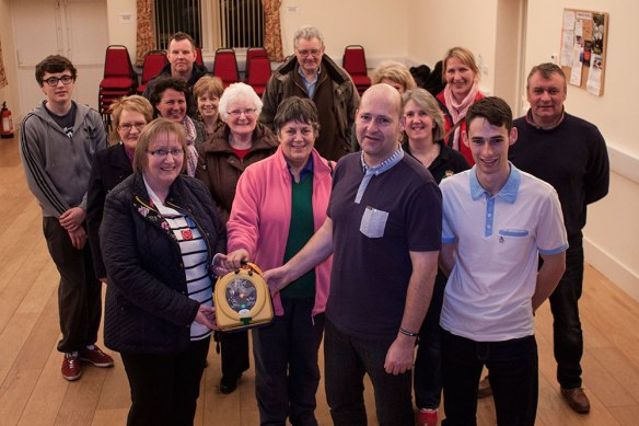 The Stephen Carey Fund hand over defibrillator to Lowick community