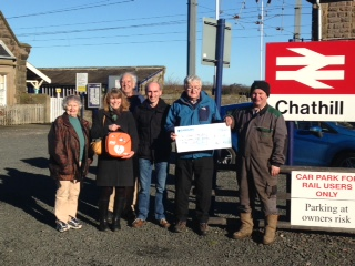 Chathill cheque handover
